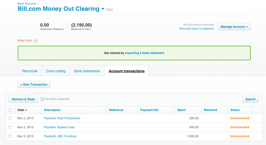 Reconciling your bank account with Xero – Support Center