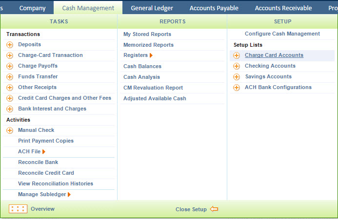 Intacct charge card setup and workflow support center charge card account layout colourmoves