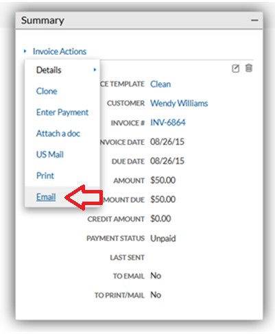 attaching a document to an outgoing invoice support center