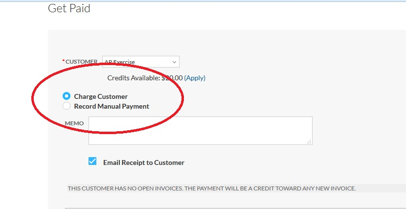 Charging A Customer Support Center - Open invoice customer service